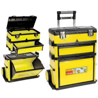 New 2 in 1 Mobile Toolbox Chest Tool DIY Trolley Tools Box Storage Organizer