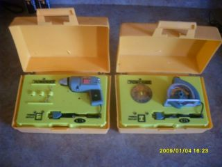 Ideal Powermite Battery Op Toy Tools Jigsaw Skil Saw Sander Drill