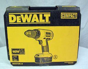 "Brand New Dewalt DC970K 2 1 2"" 18V NiCd Compact Drill Driver Cordless Power Tool"