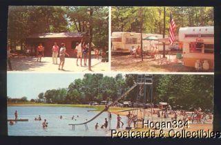Ridge Ranch Campgrounds Newton Falls Ohio Postcard
