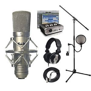 CAD Mic GXL2200 Recording Pack MH110 Cables Stand M Audio Avid Recording Studio