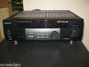 Kenwood VR 505 200 Watt RMS 5 1 Channel Surround Sound Receiver Complete System