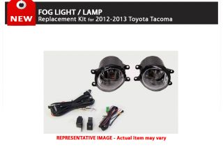 2012 2013 Toyota Tacoma Fog Lights Lamp Replacement Kit with LED Switch