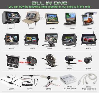 """ES788EN 7"""" HD Touch Screen 1 DIN Car DVD Player GPS SAT Nav iPod TV"""