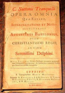 1718 Suetonius Roman Julius Caesar Biography History Rome Rulers Empire Latin