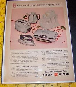 1955 General Electric Small Appliances Vintage Ad