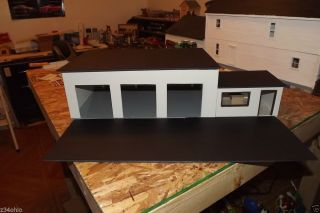 1 24 1 25 Diorama 3 Bay Garage Work Shop with Small Office