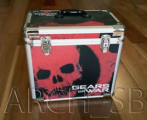 Gears of War Metal Storage Travel Case RARE Xbox 360