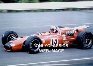 1967 A J Foyt 14 Coyote Ford Auto Race Photo Indy 500