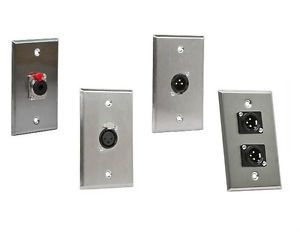 Recording Studio Speaker Vocal Booth Cable Wire Cord Metal Wall Plate Jack Plug