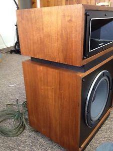 Vintage Altec Lansing Stereo Speakers Model 14