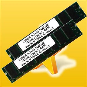 Long DIMM 256MBX2 SDRAM 512MB 133 MHz PC133 168pin Low Density Desktop