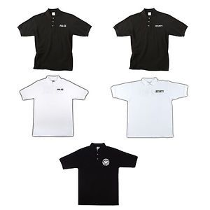 Public Safety Polo Shirts Double Sided NYPD Polos Security Collared Shirt