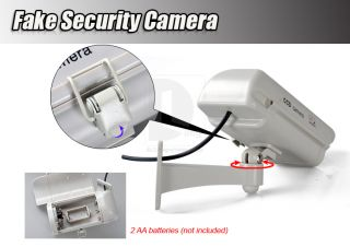 Dummy Fake CCTV IR Wireless Security System Flash Red LED Camera Professional