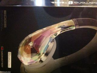 New Diamond Tears Edge by Monster on Ear Headphones ControlTalk Universal White