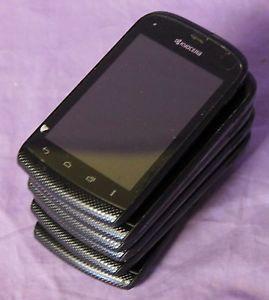 Lot of 6 Kyocera Hydro 2GB Black Boost Mobile Smartphones