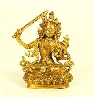 Chinese Bronze Seated Buddha Statue Figurine Buddhism mudra Feng Shui Décor Gift