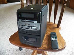 Nice Aiwa CD Compact Disc Shelf Stereo System LCX 300U No Speakers Tape CD RA