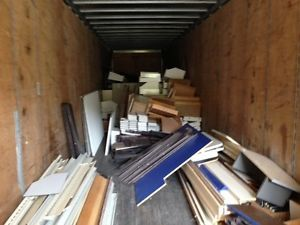 Used Gondola Shelving Tractor Trailer Load