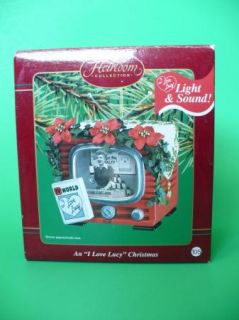 Carlton Cards I Love Lucy Christmas Light and Sound Ornament