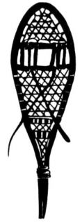 Snowshoe Mounted Winter Rubber Stamp