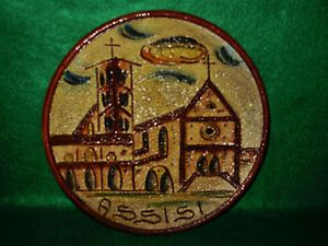 Dipinto A Mano Assisi Decorative Hanging Wall Plate Purchased in Italy