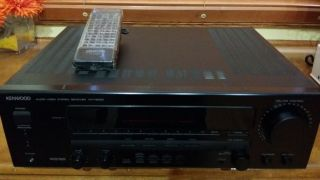Kenwood Audio Video Stereo Receiver KR V6050 with Remote Control Bundle