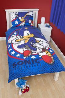 Sonic The Hedgehog Blue Sprint Single Bedding Duvet Cover Bed Set Quilt Cover