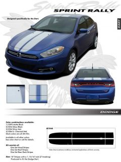 Sprint Rally Graphics Kit Decals Emblems Trim EE1940 for 2013 Dodge Dart