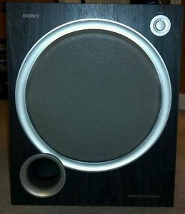 "Sony SA WMSP68 10"" 120W Active Subwoofer Bass Reflex Enclosure w Monster Cable"
