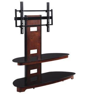 Vista Flat Panel TV Stand Cherry Wood Glass TV2350DC