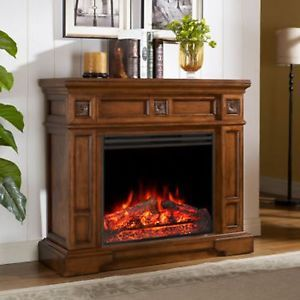 Muskoka Sheridan Electric Fireplace Entertainment Stand TV Stand Heater Blower
