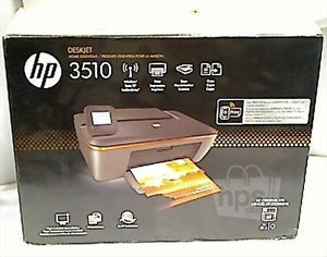 HP Desktop 3510 Wireless E All in One Inkjet Printer