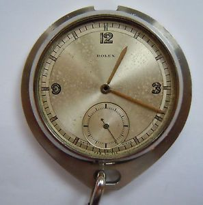 A 1940s Gents Rolex Pocket Watch Case Dial Hands 27 Records Universal Geneve Sar