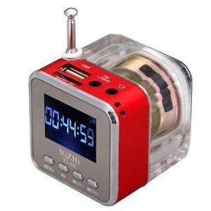 Brand TT028 Mini Speaker Portable Music  Player Micro SD TF USB FM Radio Red