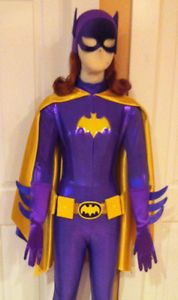 Complete Batgirl Costume Batman TV Show Purple Cape Cowl Suit
