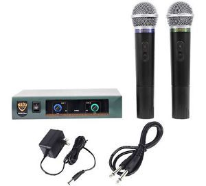 Nady Pro DKW Duo Dual VHF Wireless Microphone System Handheld Mic Sys 634343266290