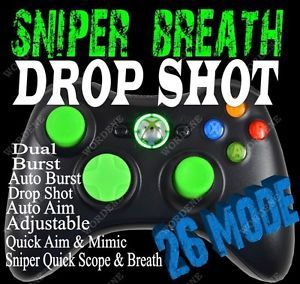Black Ops 2 Wordene Rapid Fire Modded Xbox 360 Controller Quick Scope MW3 Green
