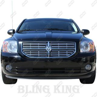 2012 Dodge Caliber Chrome Grille Grill Horizontal Insert 07 2008 2009 2010 2011