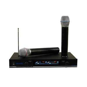 Hisonic HS8286 VHF Dual Rechargeable Wireless Microphone System