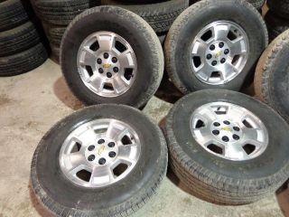 "4 2011 Chevy Tahoe 17"" Factory Alloy Wheels Goodyear Tires Silverado 131D"