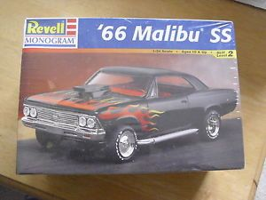'66 Malibu SS Plastic Model Kit Revell Monogram 1998 Cars Trucks Hot Rods