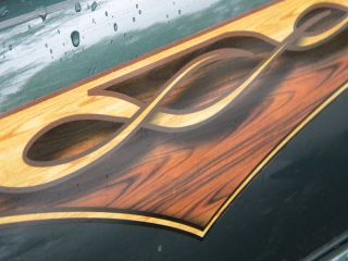 Wood Panel Flame Decals HHR PT Cruiser Mustang Camaro RAM Hot Rod Ratrod Mopar
