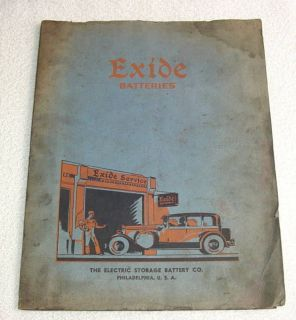Exide Batteries Automotive Radio Receiver 1937 Catalog