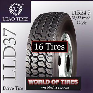 16 Tires Leao LLD37 11R24 5 Semi Truck Tire 11R24 5 11R245 Truck Tires 11245