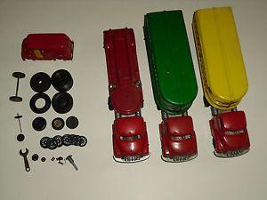 Lot Vintage Hubley Kiddie Plastic Cab Trailer Semi Truck Tires Motor Express