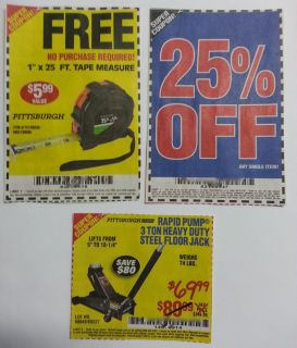 Harbor Freight offers Tape Measure 25 Any Single Item 3 Ton Floor Jack
