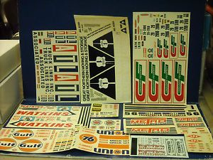 Vintage Original 1970's 1 25 Scale Lot of Big Rig Truck Decals All Good Shape