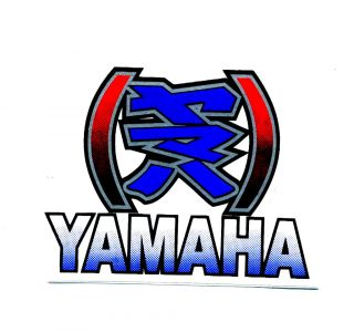 Yamaha Blue Kanji Motorcycle Helmets Spoiler Car Van Truck Decals Sticker E103