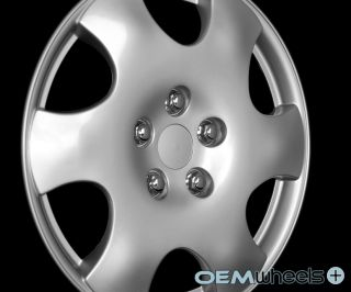"4 New Silver 15"" Hub Caps Fits 1968 Current Toyota Corolla Wheel Covers Set"